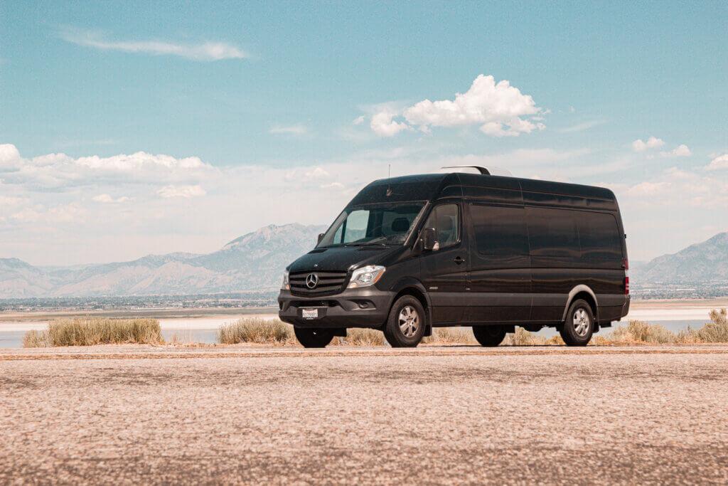 Sprinter Passenger Van on Antelope Island, Utah