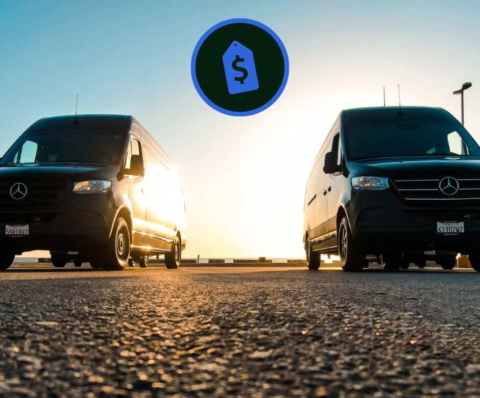 How much does it cost to rent a passenger and cargo van